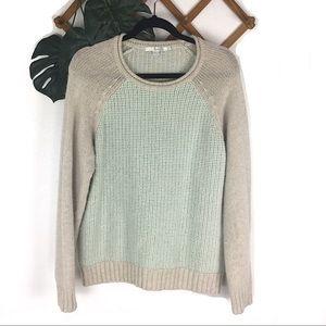Boden Alpaca Wool Soft Blue Sweater Blue Cream 14
